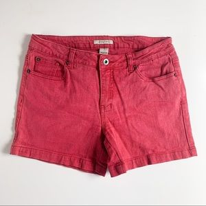 Urban Life classic red jean shorts